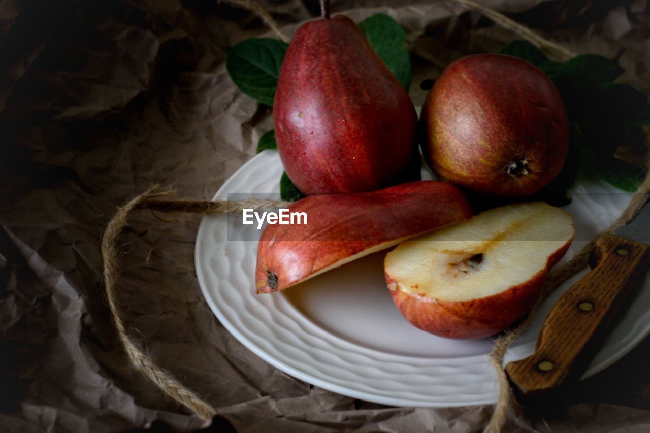 food and drink, food, freshness, healthy eating, wellbeing, fruit, still life, no people, indoors, apple - fruit, table, high angle view, close-up, red, basket, container, vegetable, banana, group of objects, group