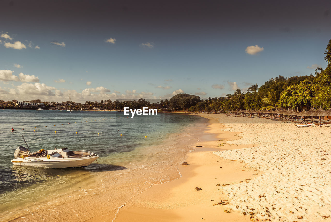 beach, sea, water, sand, nature, nautical vessel, sky, beauty in nature, no people, outdoors, scenics, day, tree