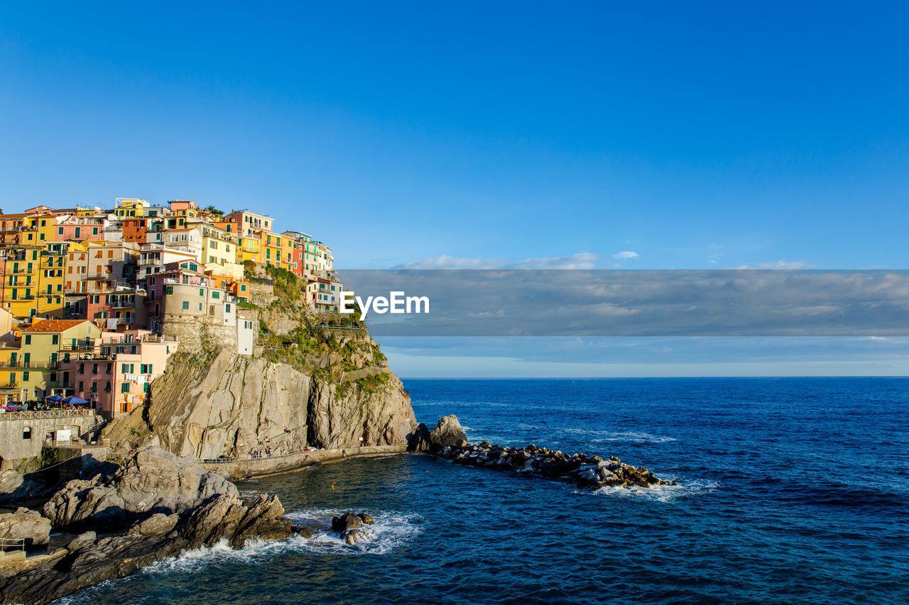 Scenic View Of Cinque Terre Against Sky