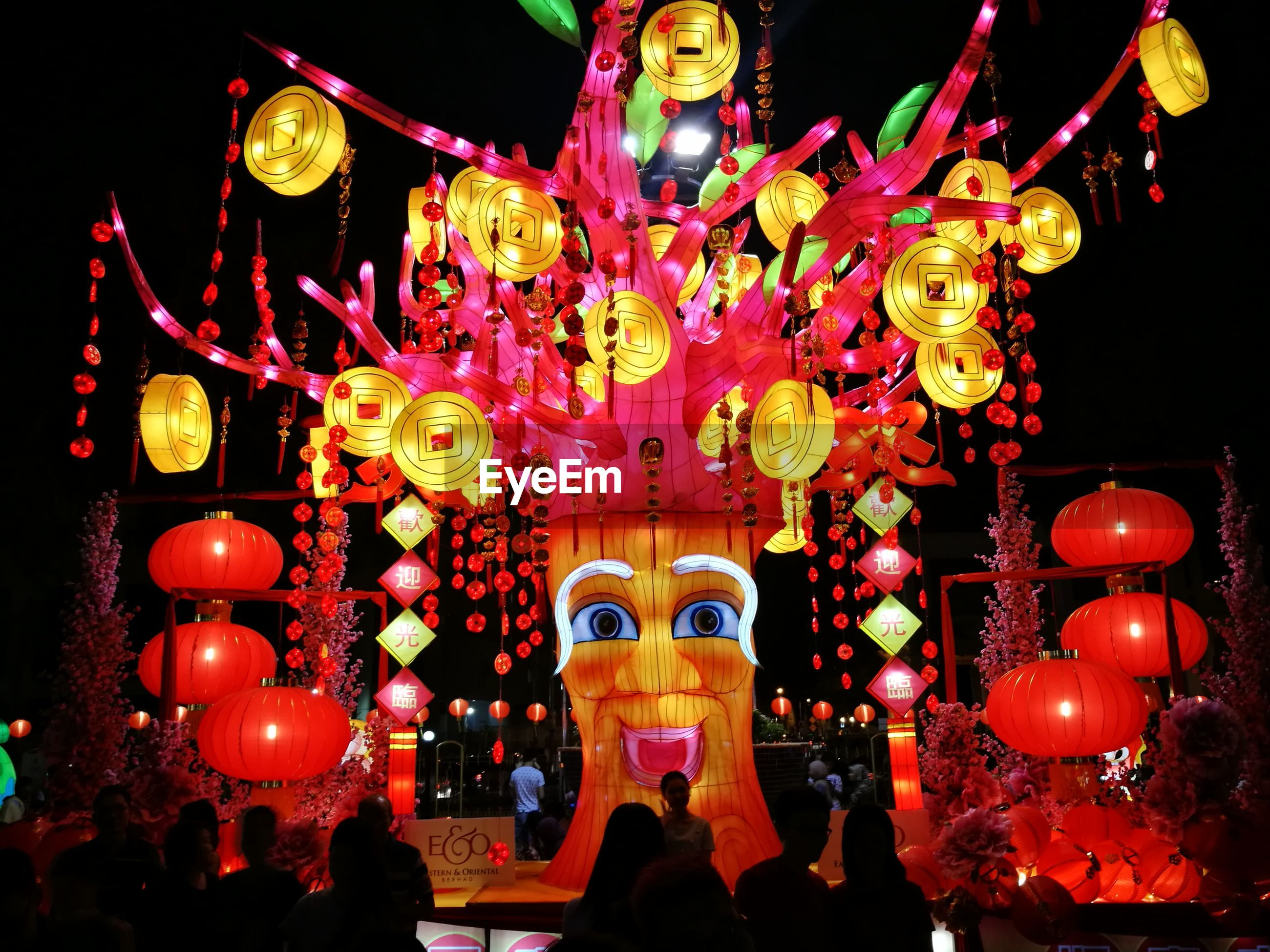 illuminated, chinese new year, celebration, cultures, lighting equipment, hanging, chinese lantern festival, night, chinese lantern, traditional festival, no people, outdoors, chinese dragon