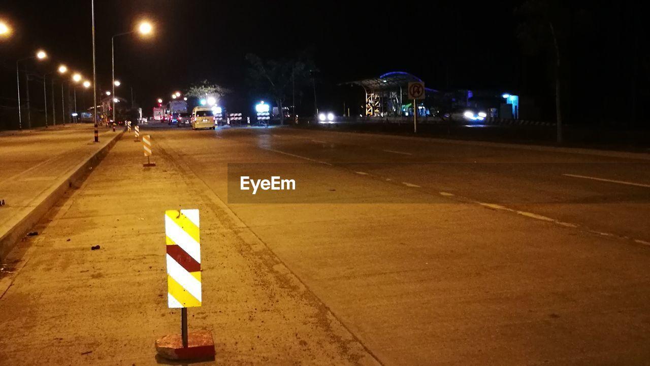night, illuminated, lighting equipment, street light, road, danger, street, burning, outdoors, city, no people, sky