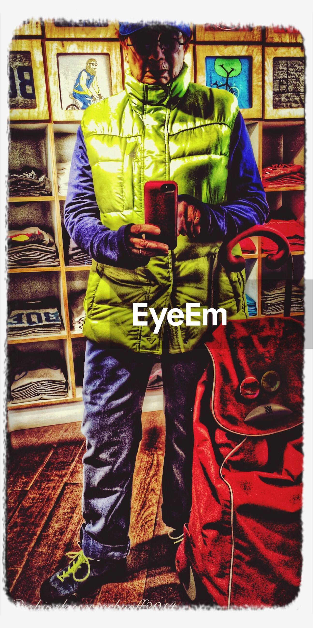 transfer print, multi colored, casual clothing, lifestyles, auto post production filter, men, standing, rear view, leisure activity, graffiti, full length, traditional clothing, clothing, art and craft, creativity, person, art