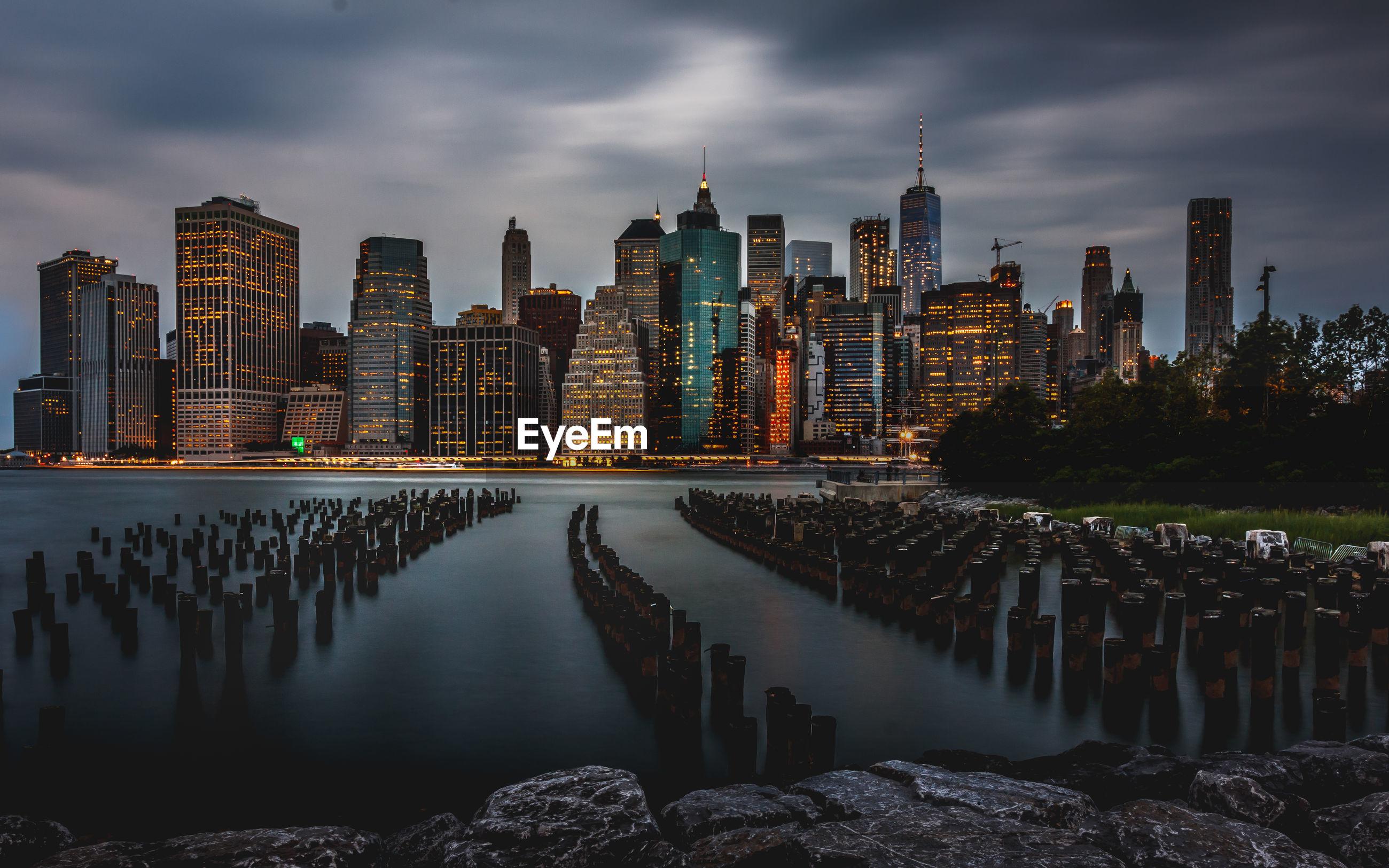 Panoramic view of new york skyline