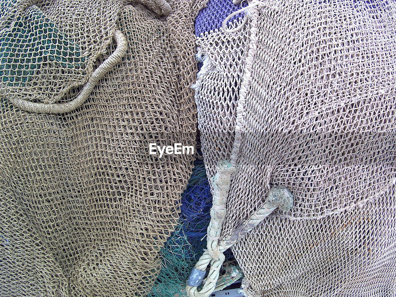 fishing net, textile, textured, no people, full frame, rope, backgrounds, pattern, fishing equipment, close-up, jute, indoors, wool, fishing tackle, day