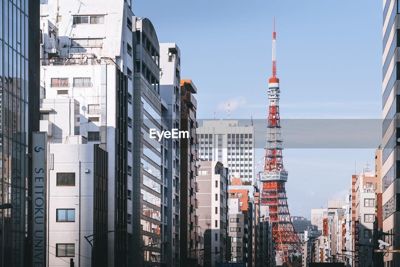 CITY BUILDINGS AGAINST SKY