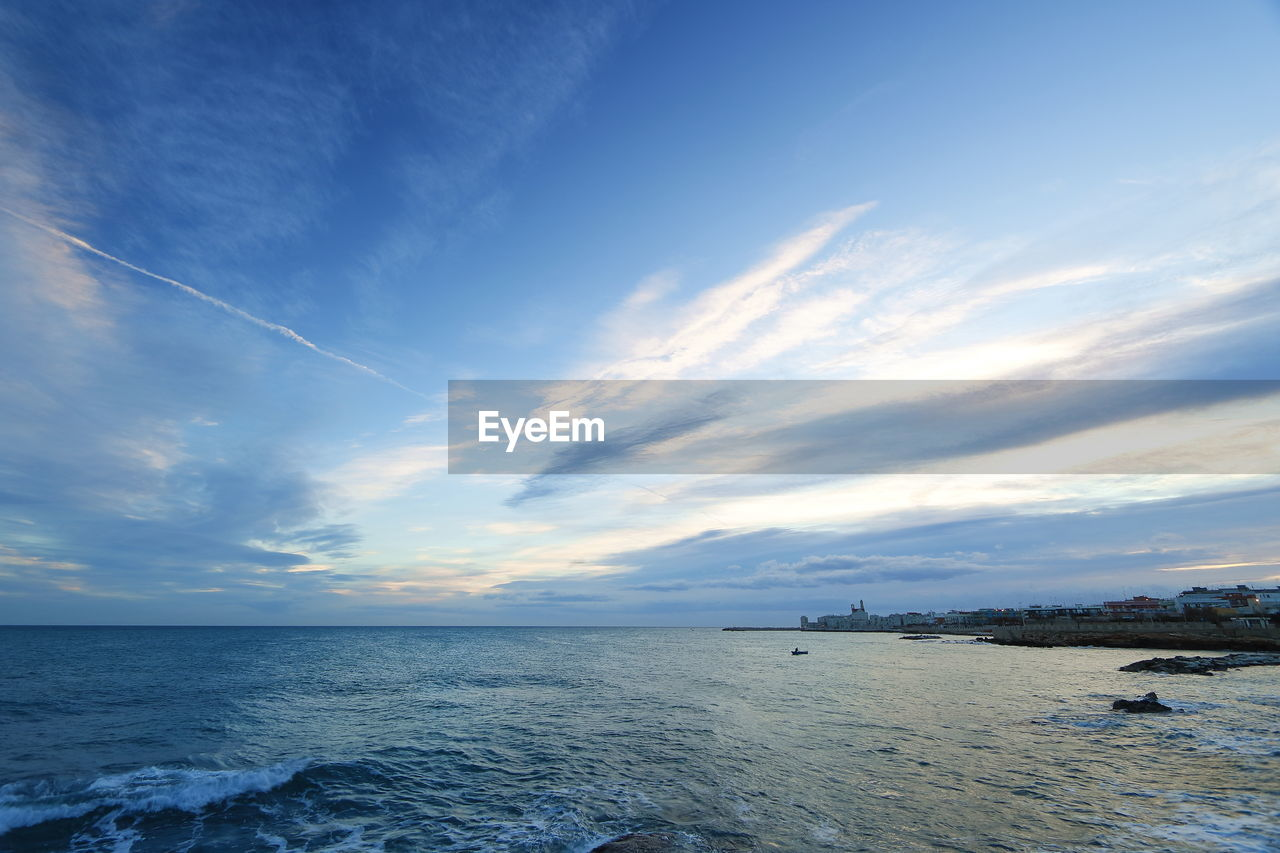 sea, sky, water, horizon over water, scenics, nature, beauty in nature, cloud - sky, tranquil scene, tranquility, outdoors, waterfront, sunset, no people, day