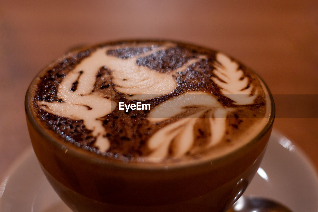 food and drink, coffee, coffee - drink, coffee cup, drink, mug, close-up, cup, freshness, still life, refreshment, food, indoors, hot drink, selective focus, frothy drink, cappuccino, no people, table, indulgence, crockery, latte, temptation, froth