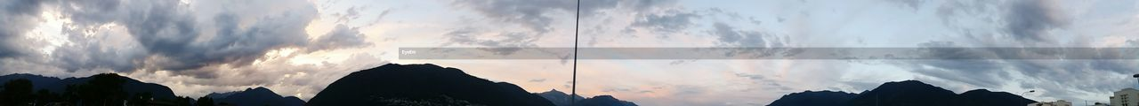 sky, panoramic, cloud - sky, low angle view, no people, nature, beauty in nature, outdoors, silhouette, scenics, sunset, building exterior, day