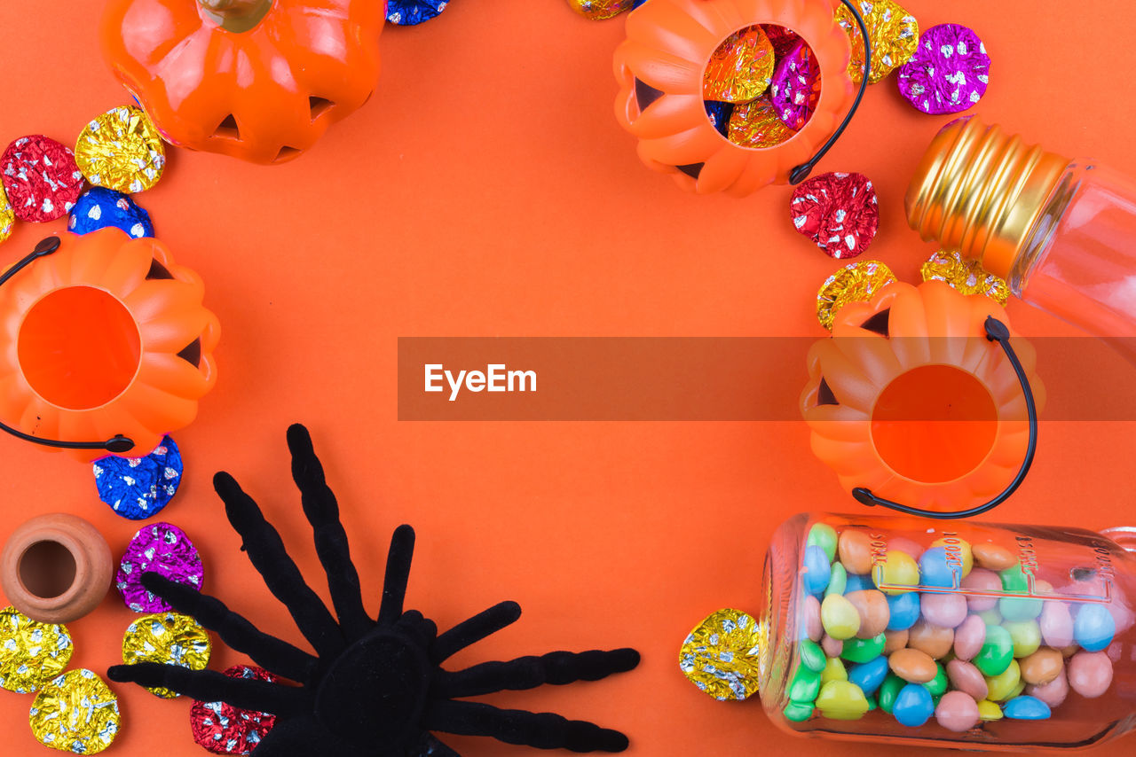 multi colored, table, still life, variation, no people, indoors, high angle view, large group of objects, directly above, choice, food, candy, sweet food, close-up, day