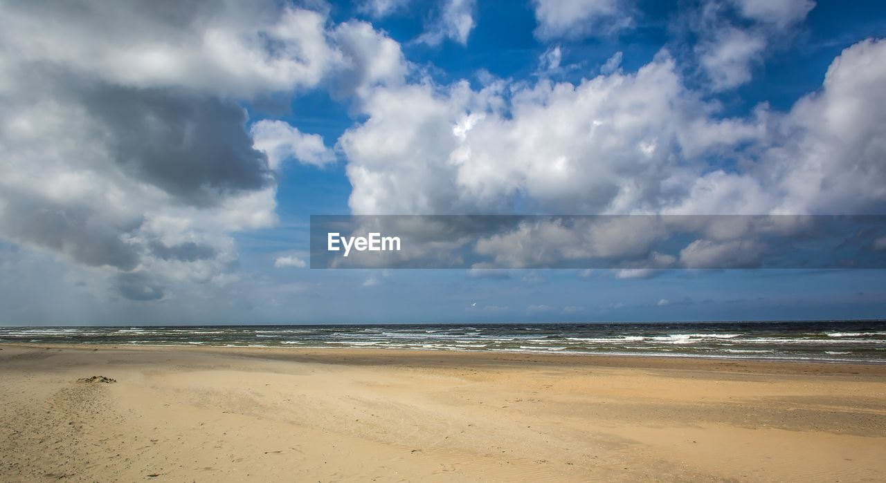 cloud - sky, sky, sea, beach, land, water, beauty in nature, horizon, scenics - nature, horizon over water, tranquility, sand, tranquil scene, nature, day, no people, outdoors, non-urban scene, idyllic