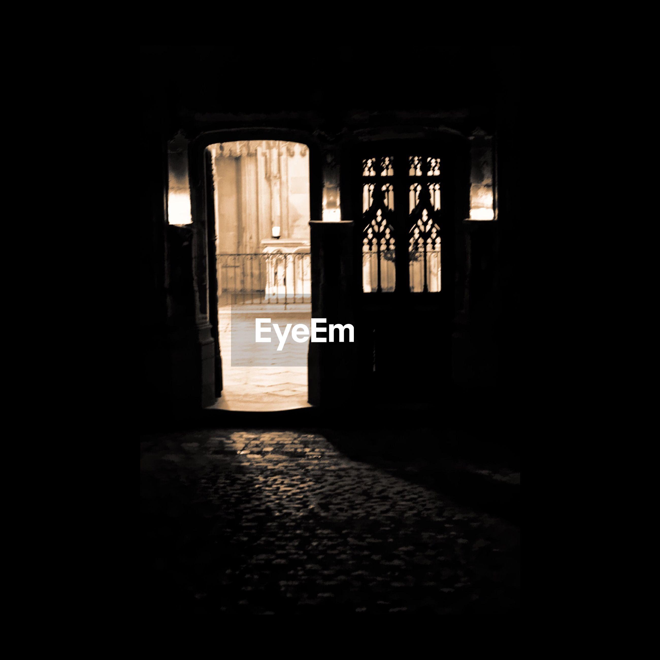 indoors, window, architecture, built structure, dark, door, house, entrance, doorway, empty, abandoned, illuminated, room, old, interior, absence, open, home interior, no people, corridor