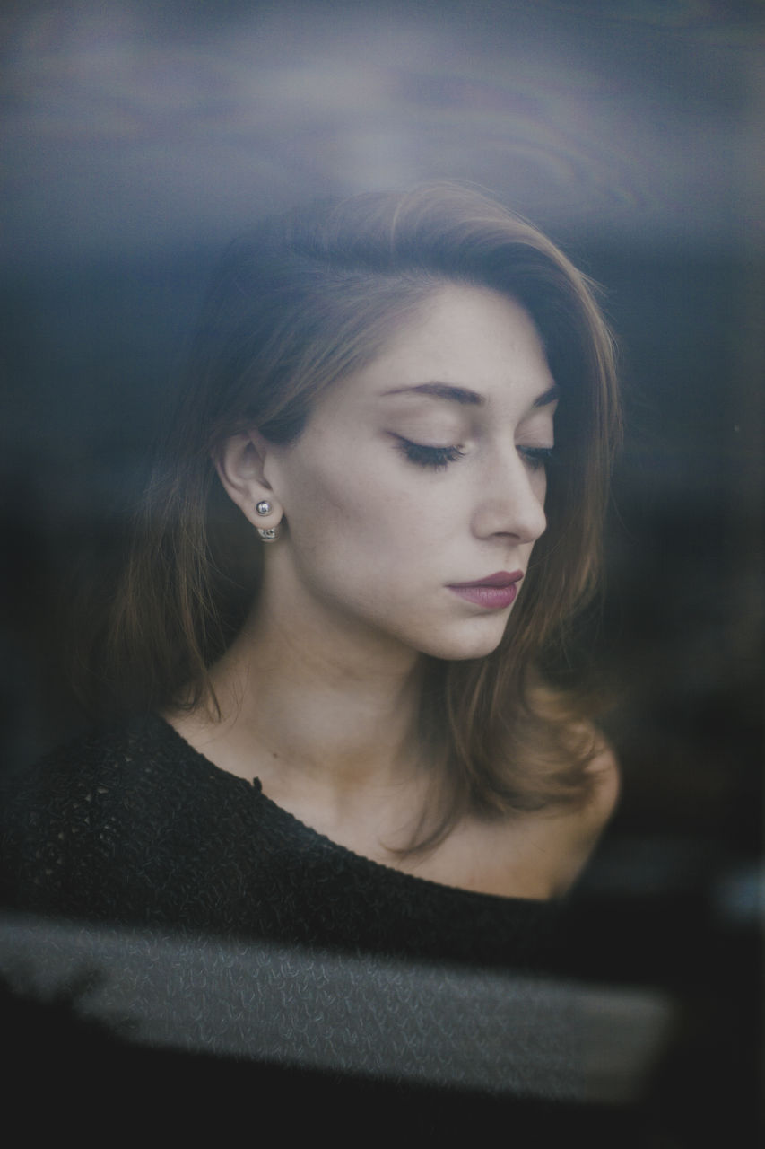 Close-Up Of Young Woman