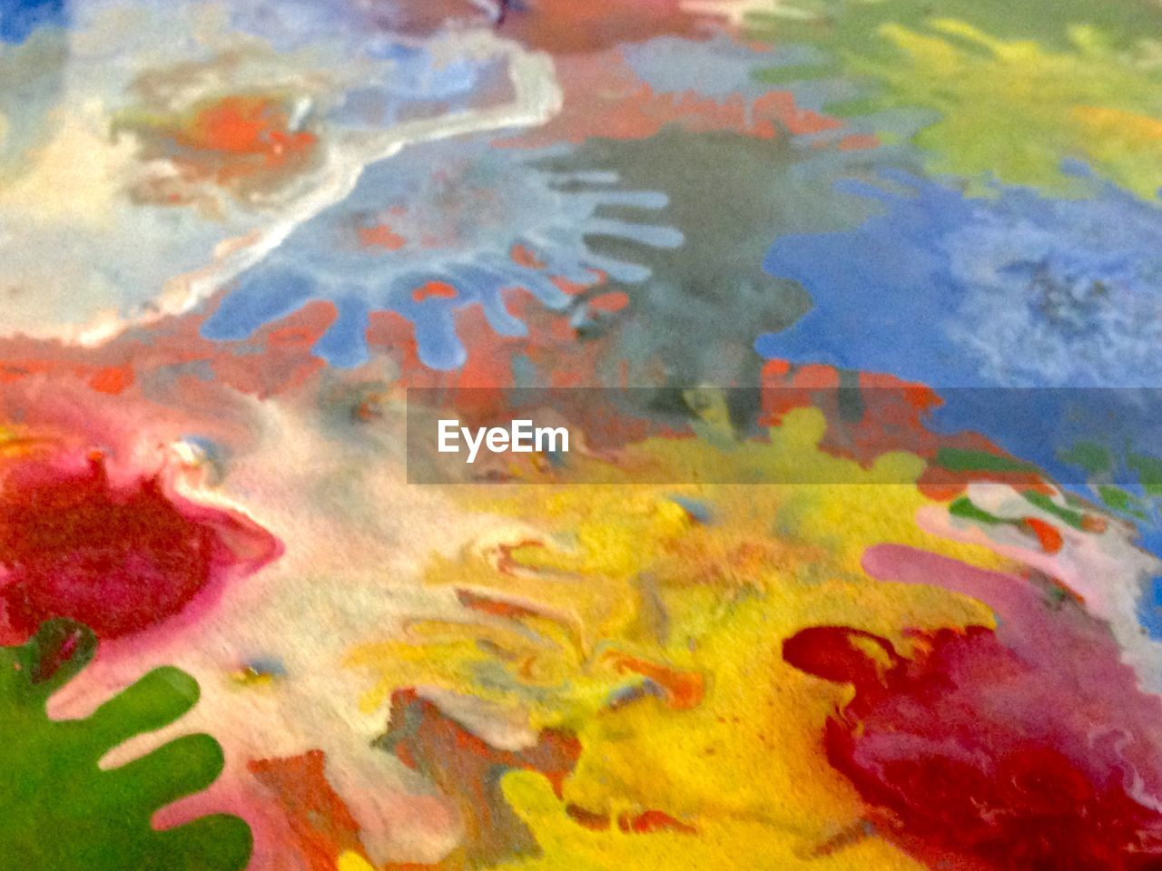 multi colored, oil spill, close-up, water, backgrounds, full frame, no people, day, outdoors, nature