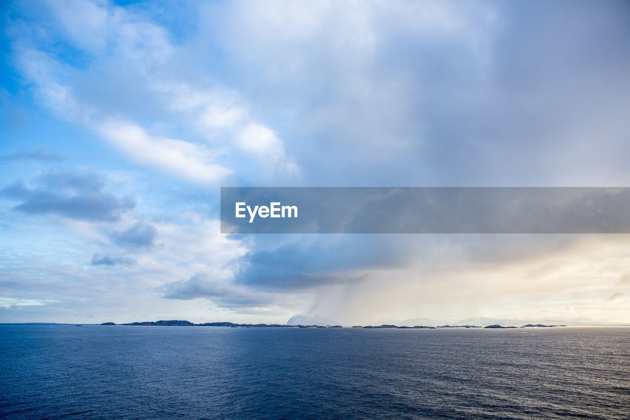 cloud - sky, sky, scenics - nature, beauty in nature, sea, water, tranquil scene, tranquility, nature, no people, horizon, non-urban scene, horizon over water, day, idyllic, outdoors, waterfront, blue