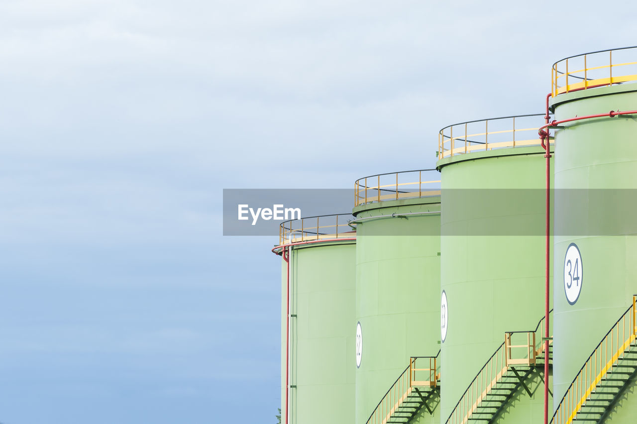 Low Angle View Of Water Storage Tank Against Sky