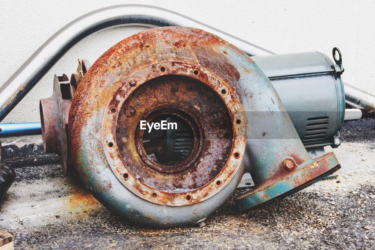 Rusty metal at scrap yard
