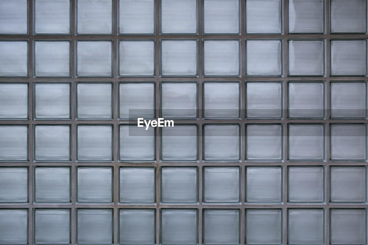 Full Frame Shot Of Glass Brick Wall