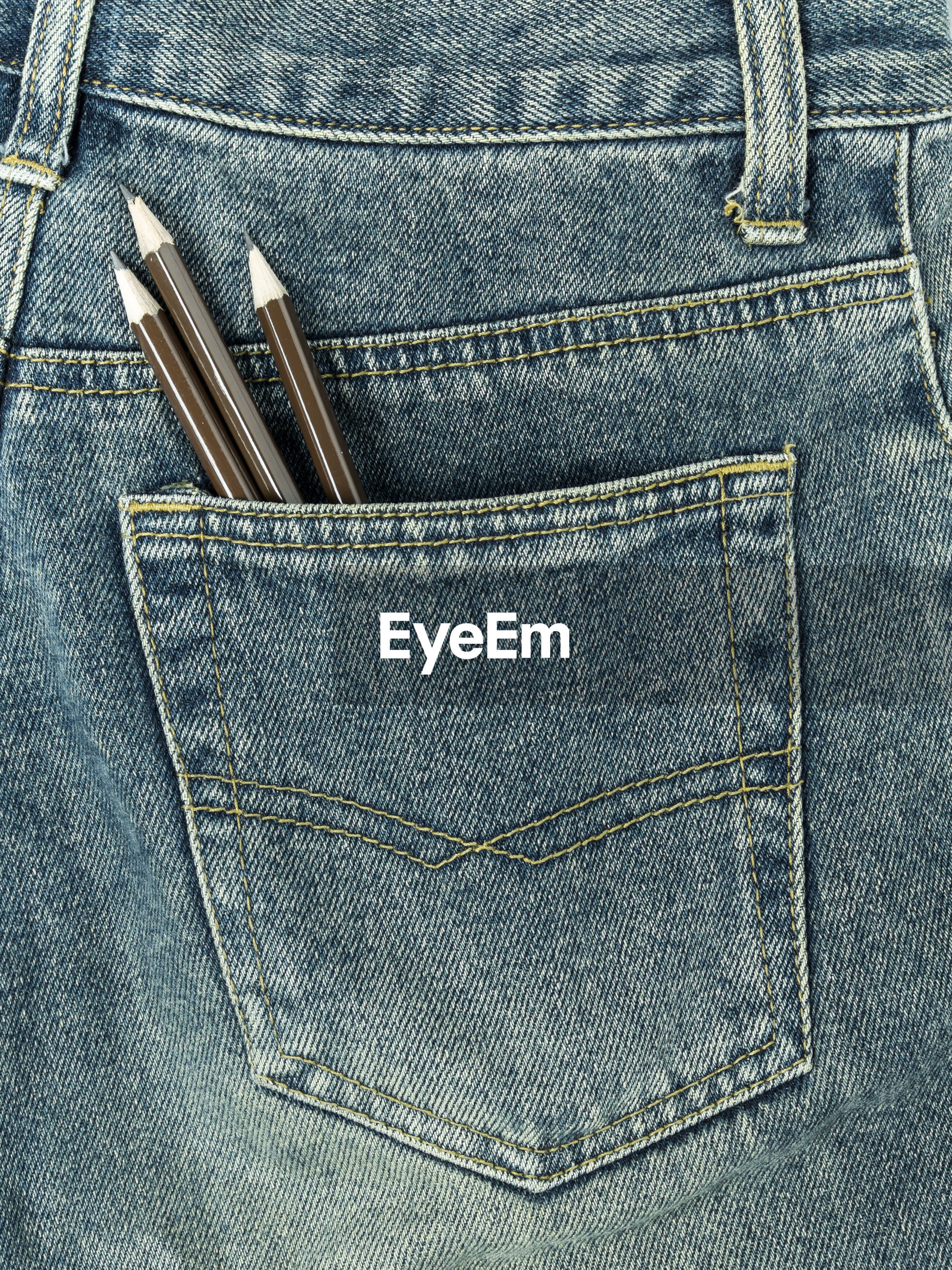 Close-up of pencils in pocket