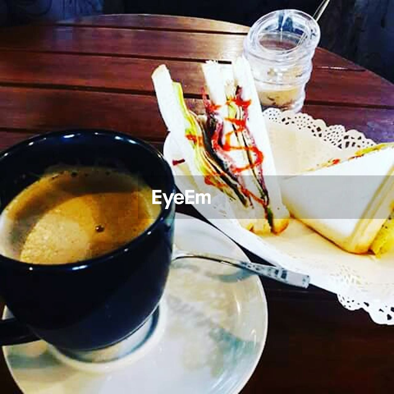 food and drink, food, plate, drinking glass, ready-to-eat, drink, freshness, no people, table, indoors, indulgence, serving size, high angle view, healthy eating, temptation, close-up, day