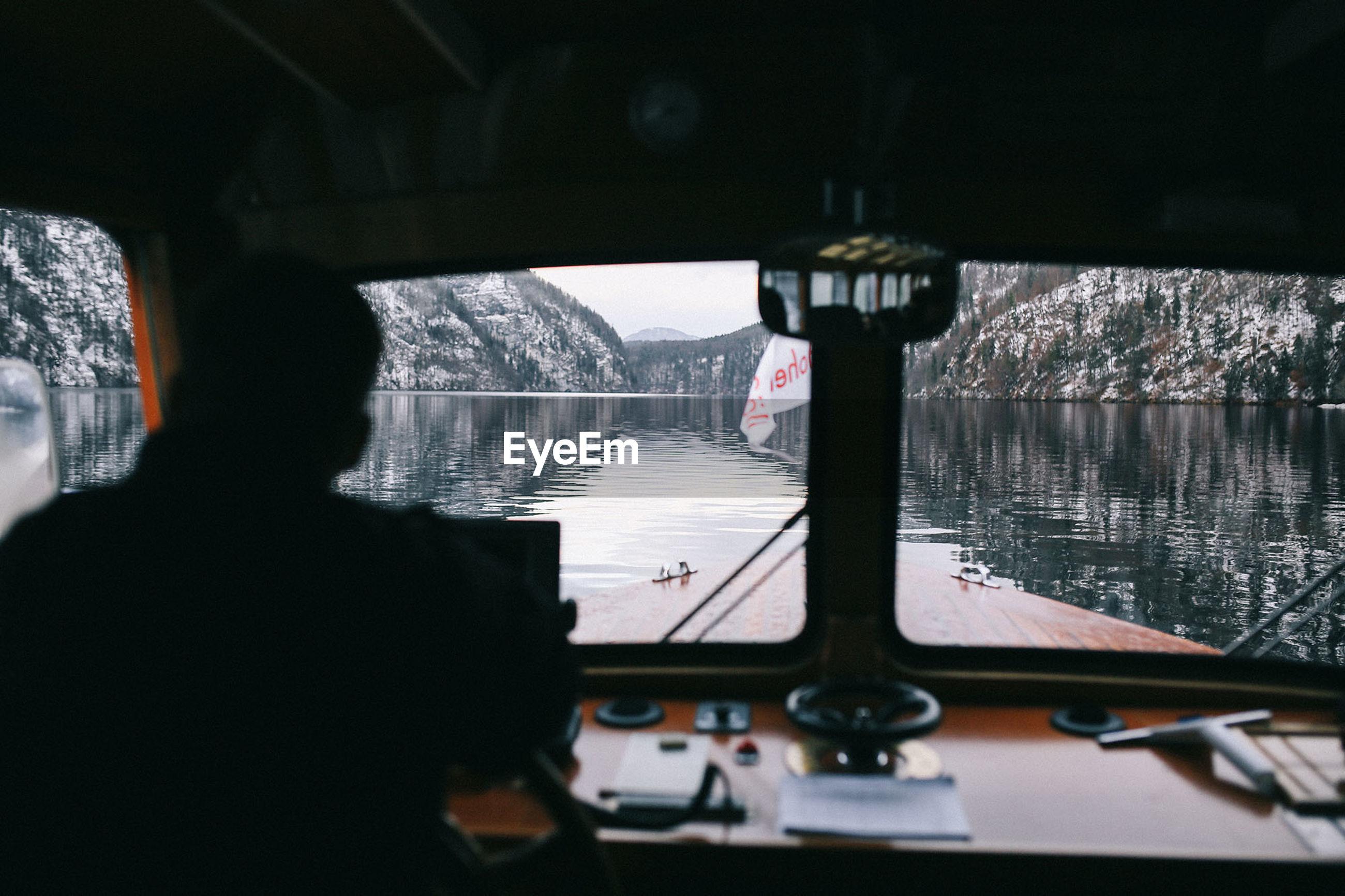 Man traveling in boat
