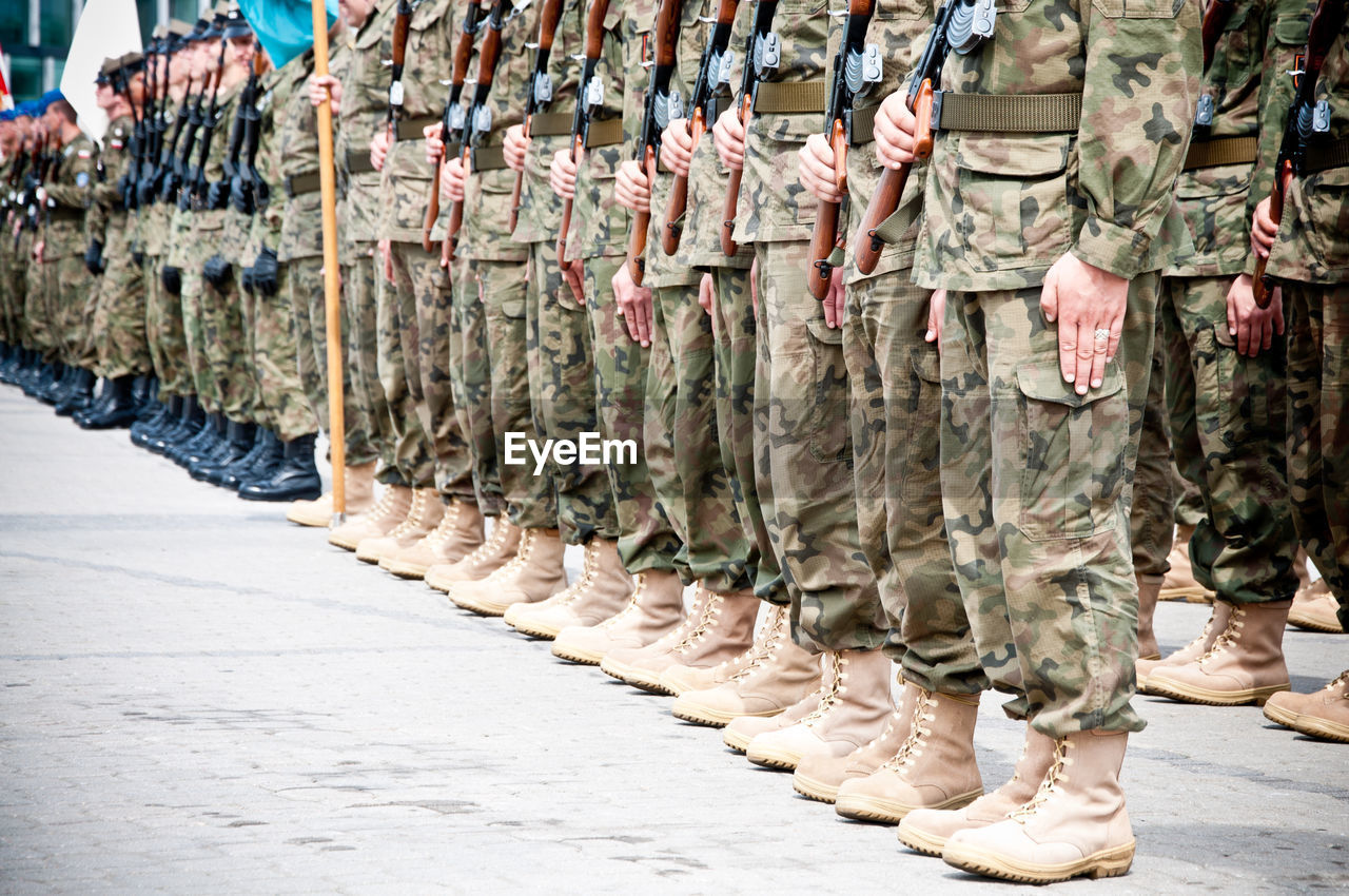 Low section of soldiers