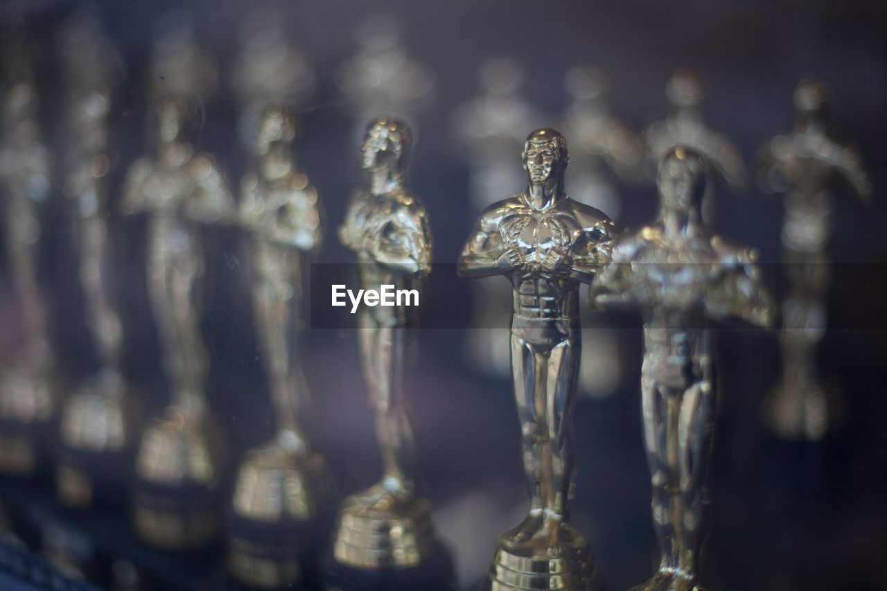 Close Up Of Silver Trophies