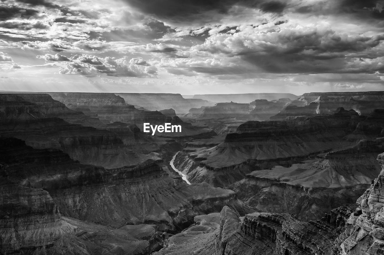 High Angle View Of Rock Formations At Grand Canyon