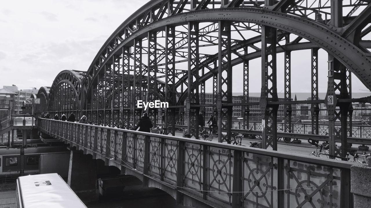 Bridge in sky in city