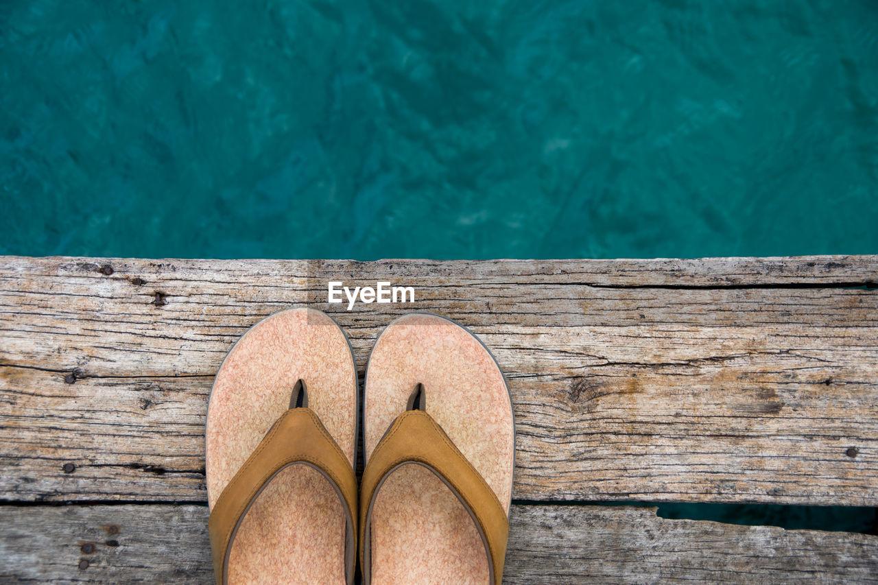 Close-up of flip-flops