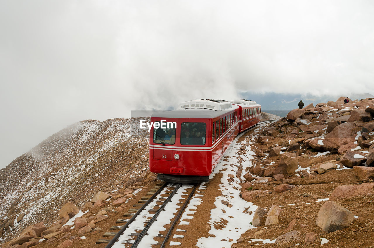 day, transportation, nature, sky, no people, outdoors, winter, mountain, cold temperature, snow, water, beauty in nature