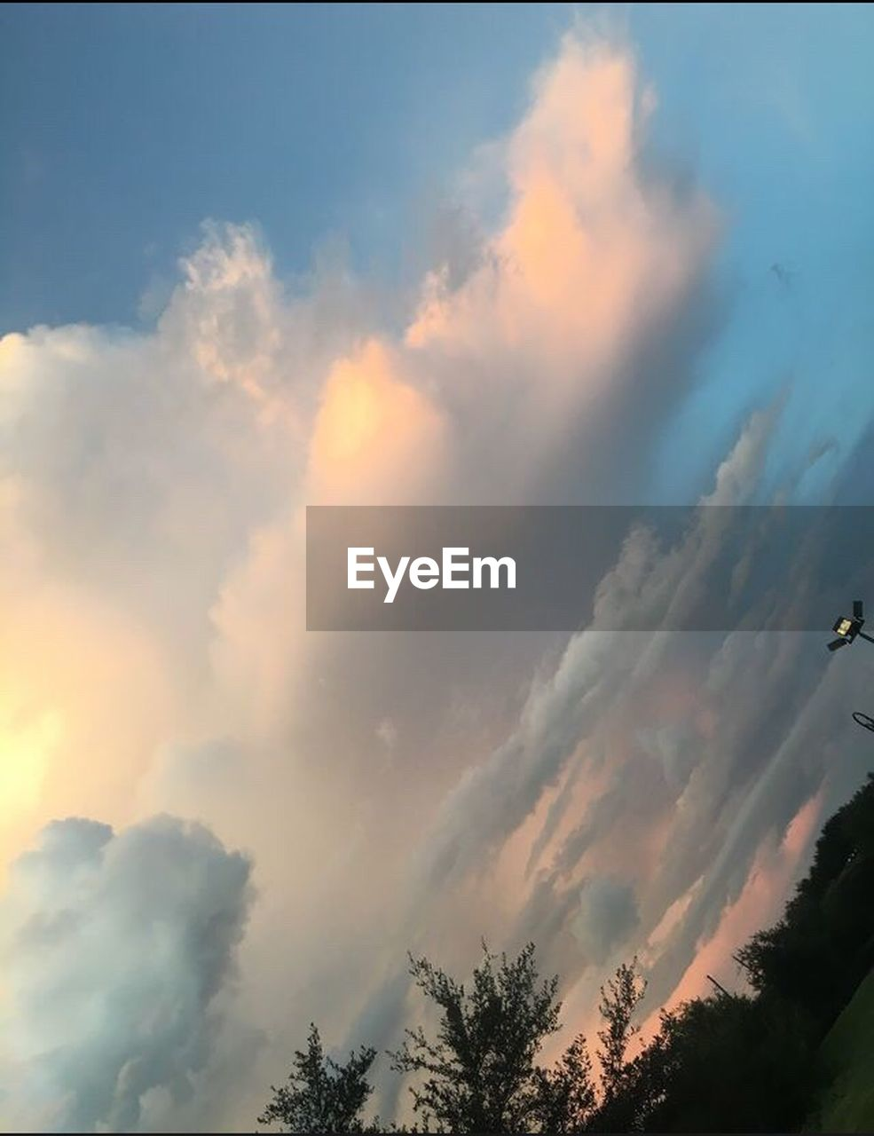 sky, nature, beauty in nature, cloud - sky, low angle view, scenics, tranquil scene, sunset, no people, outdoors, tranquility, tree, day