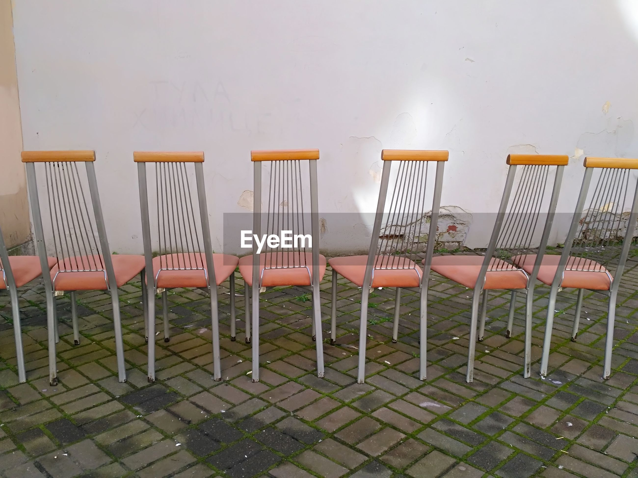 CLOSE-UP OF CHAIRS ON SEAT