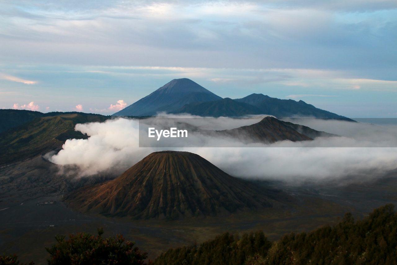 Smoke Emitting From Active Volcano