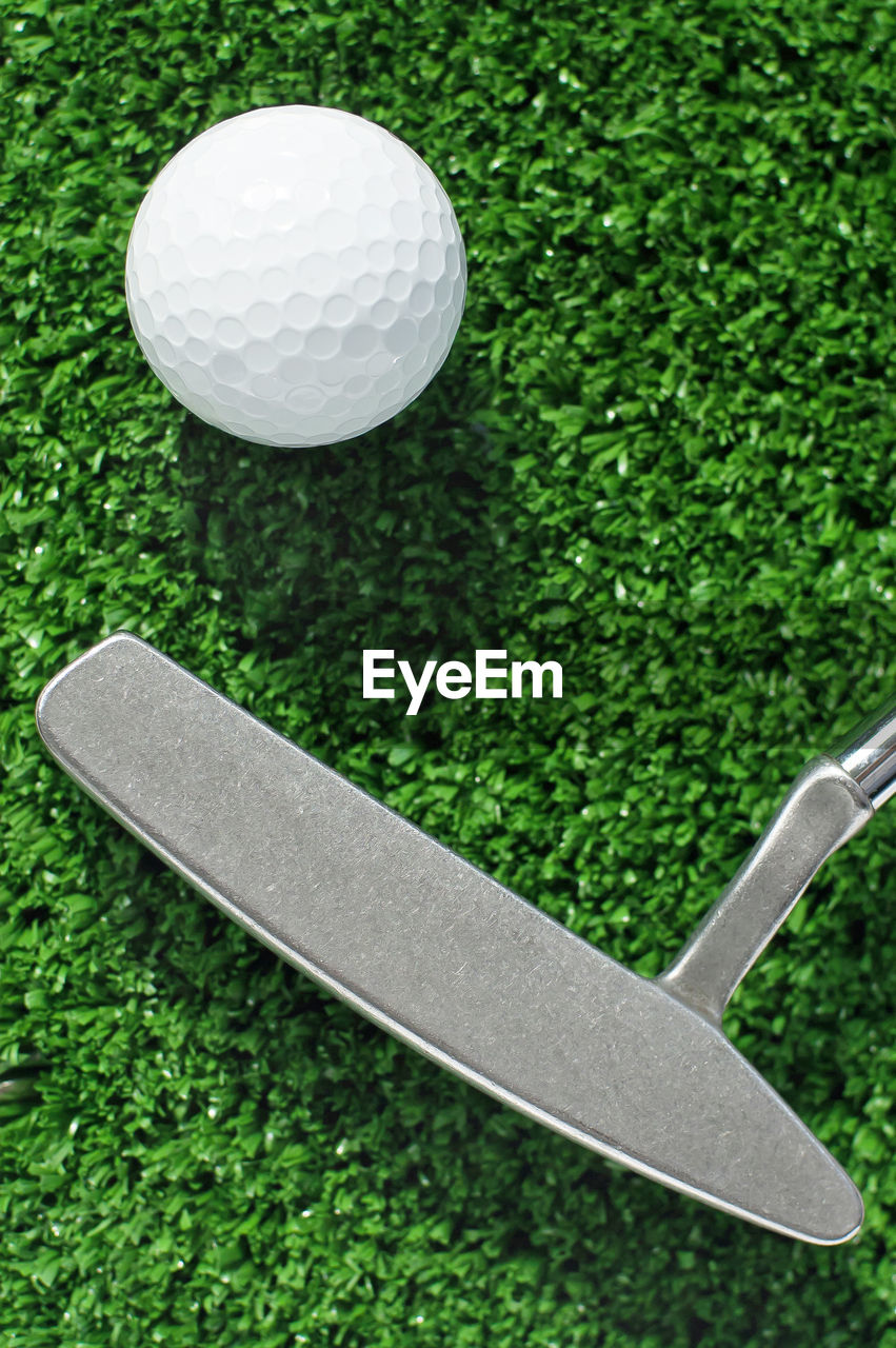golf, golf ball, green color, sport, golf course, ball, green - golf course, no people, grass, golf club, close-up, tee, day, outdoors