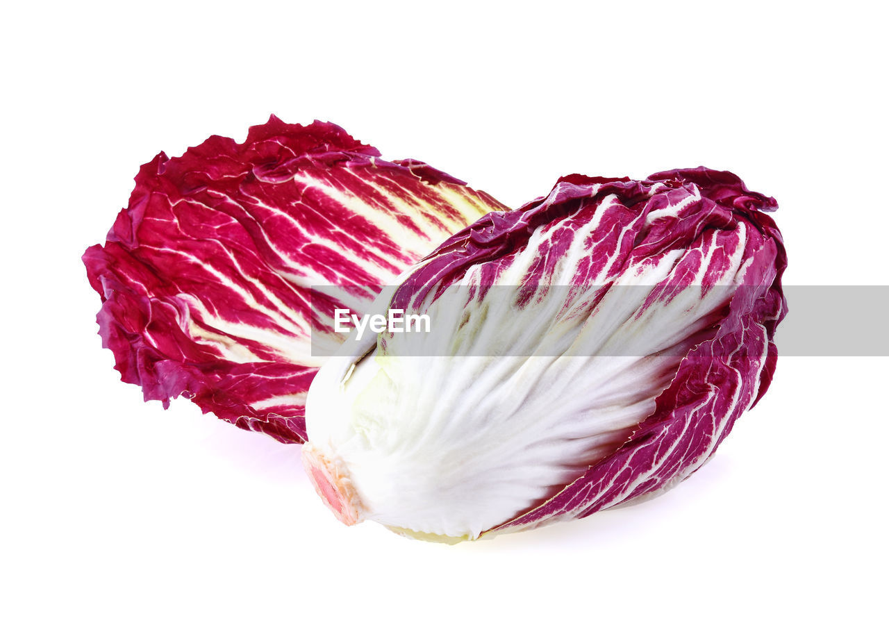 studio shot, freshness, white background, close-up, cut out, indoors, food and drink, food, still life, red, raw food, no people, vegetable, purple, ingredient, wellbeing, healthy eating, high angle view, directly above, white color, vegetarian food