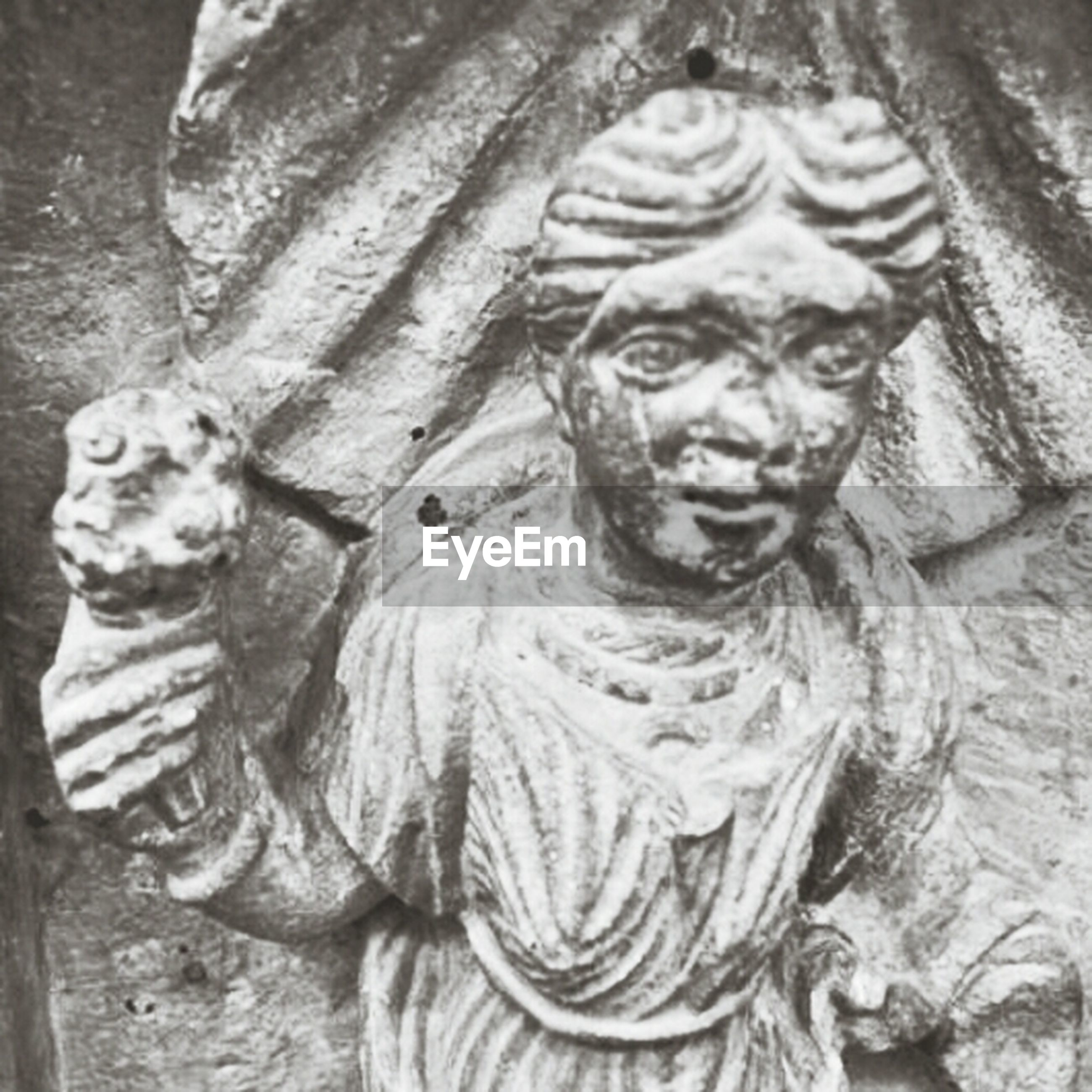 art and craft, art, human representation, statue, creativity, sculpture, carving - craft product, animal representation, craft, close-up, religion, carving, no people, outdoors, day, old, spirituality, stone material