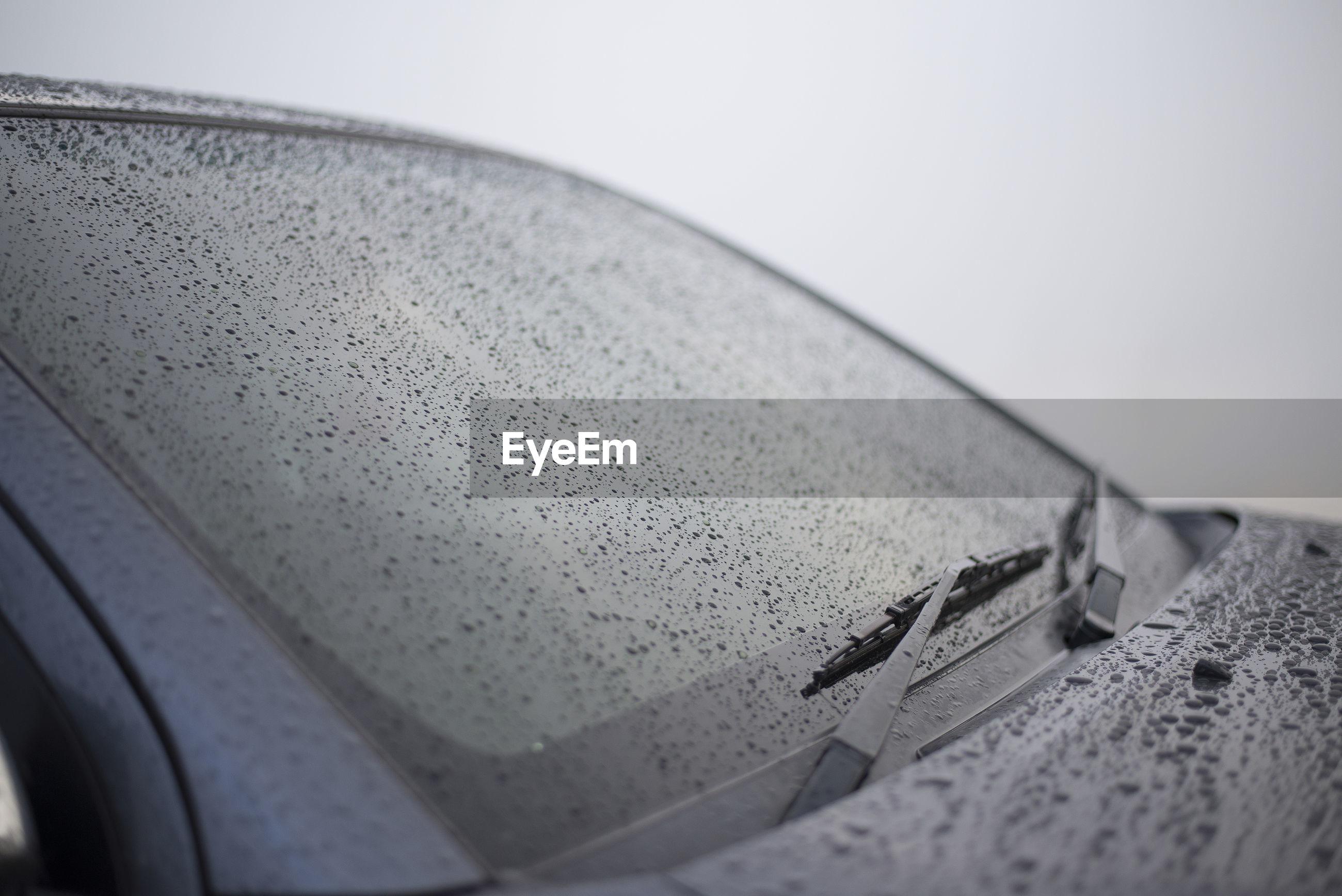 Wet car window during rain