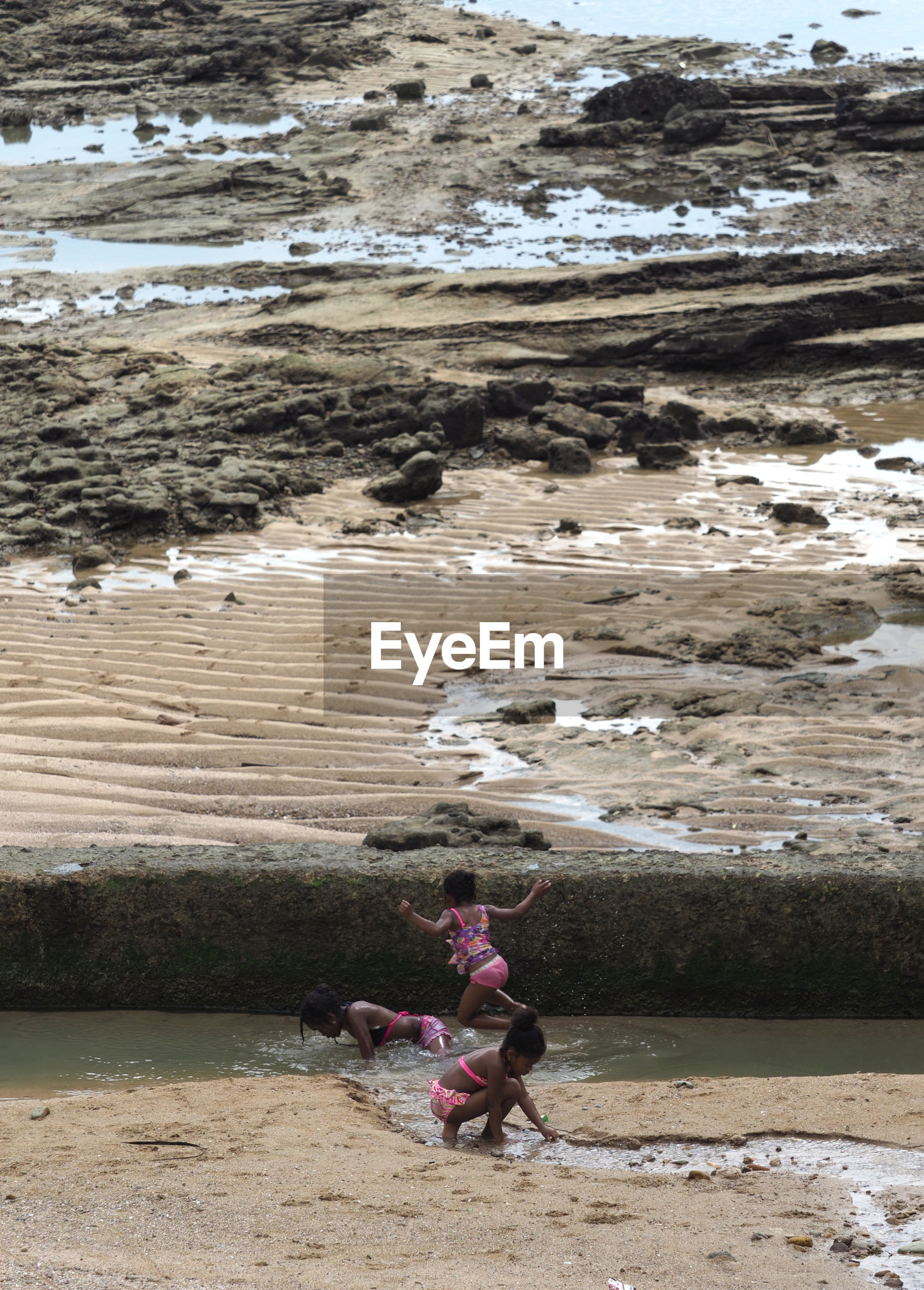Girls playing at beach
