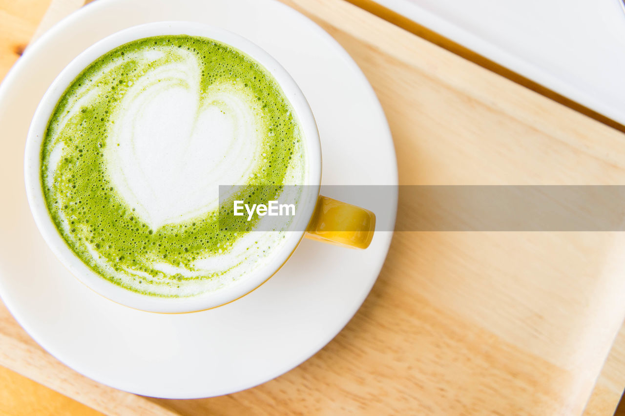 food and drink, refreshment, drink, still life, table, coffee, cup, indoors, freshness, coffee - drink, frothy drink, close-up, mug, no people, high angle view, coffee cup, hot drink, food, matcha tea, saucer, latte, crockery, non-alcoholic beverage, tray, tea cup