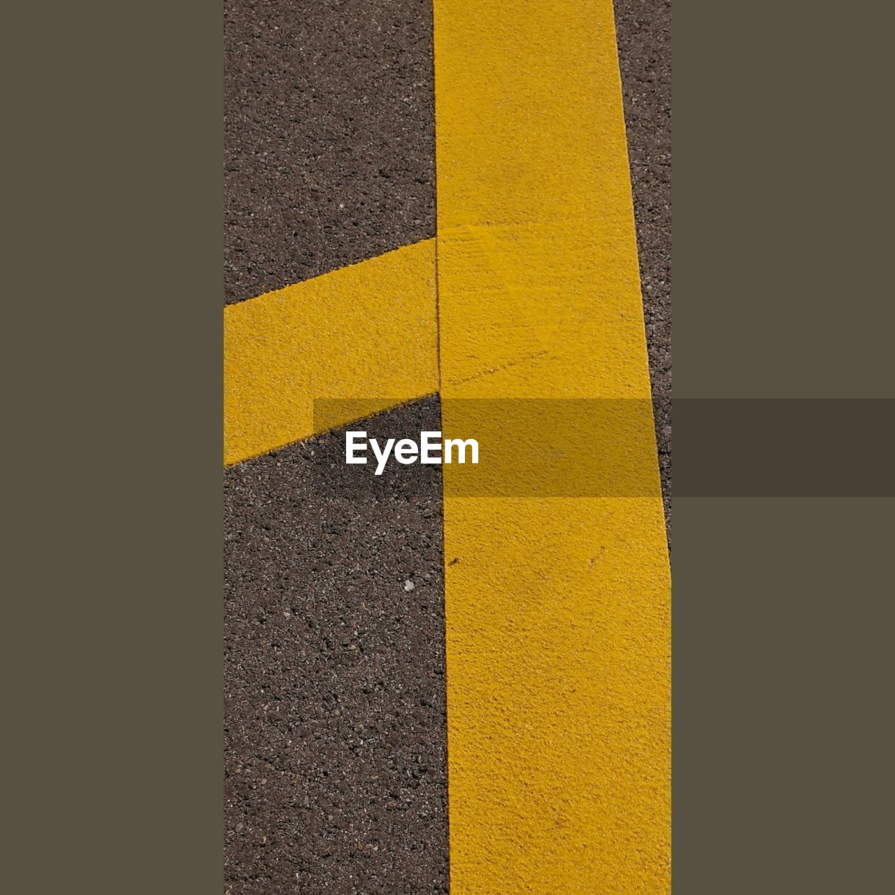 yellow, road marking, marking, no people, textured, pattern, transportation, sign, road, close-up, symbol, backgrounds, full frame, high angle view, asphalt, day, indoors, dividing line, directly above, gray, concrete