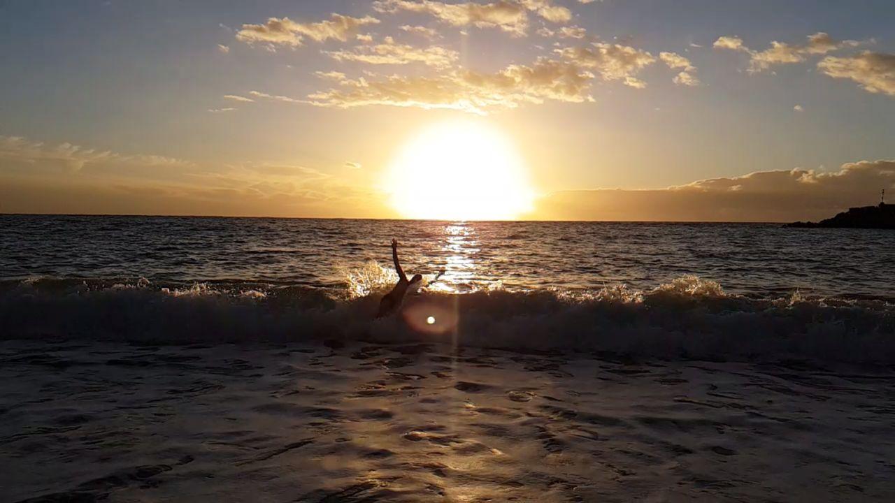 sky, sunset, sea, water, beauty in nature, scenics - nature, horizon, horizon over water, sun, beach, land, cloud - sky, sunlight, tranquility, idyllic, tranquil scene, reflection, nature, non-urban scene, outdoors, no people