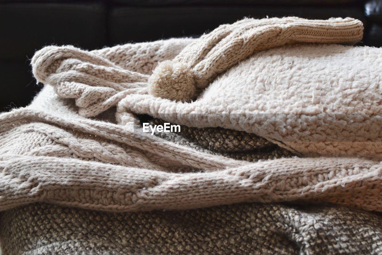 Close-Up Of Woolen Cloth