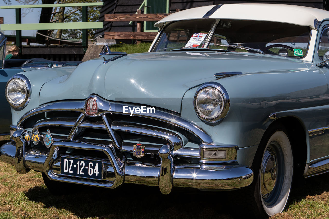 car, old-fashioned, headlight, transportation, retro styled, land vehicle, no people, day, outdoors