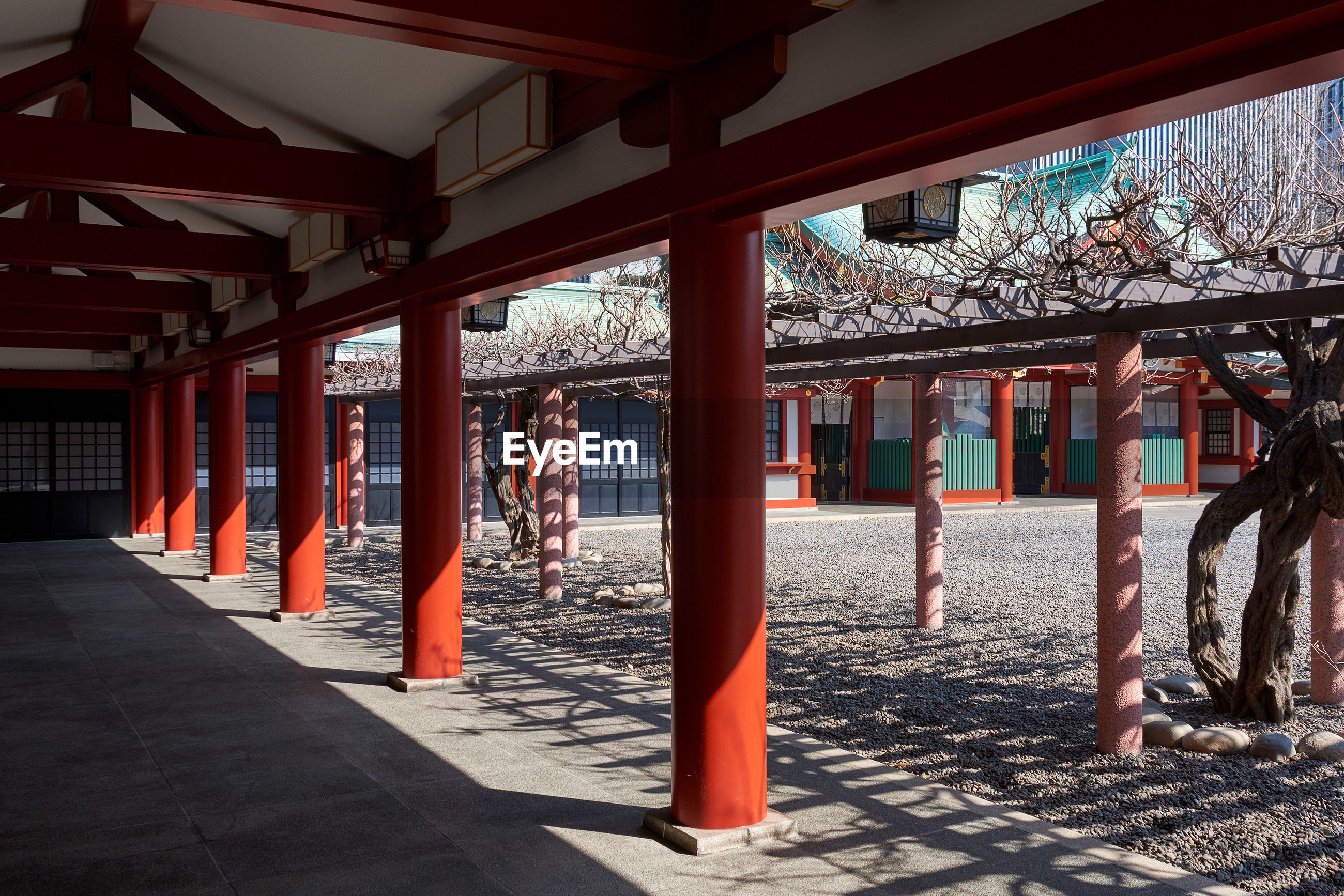 Courtyard of japanese temple