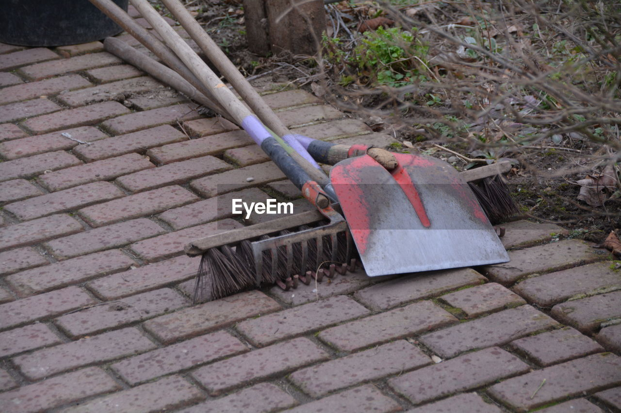 cleaning equipment, outdoors, cleaning, housework, day, no people