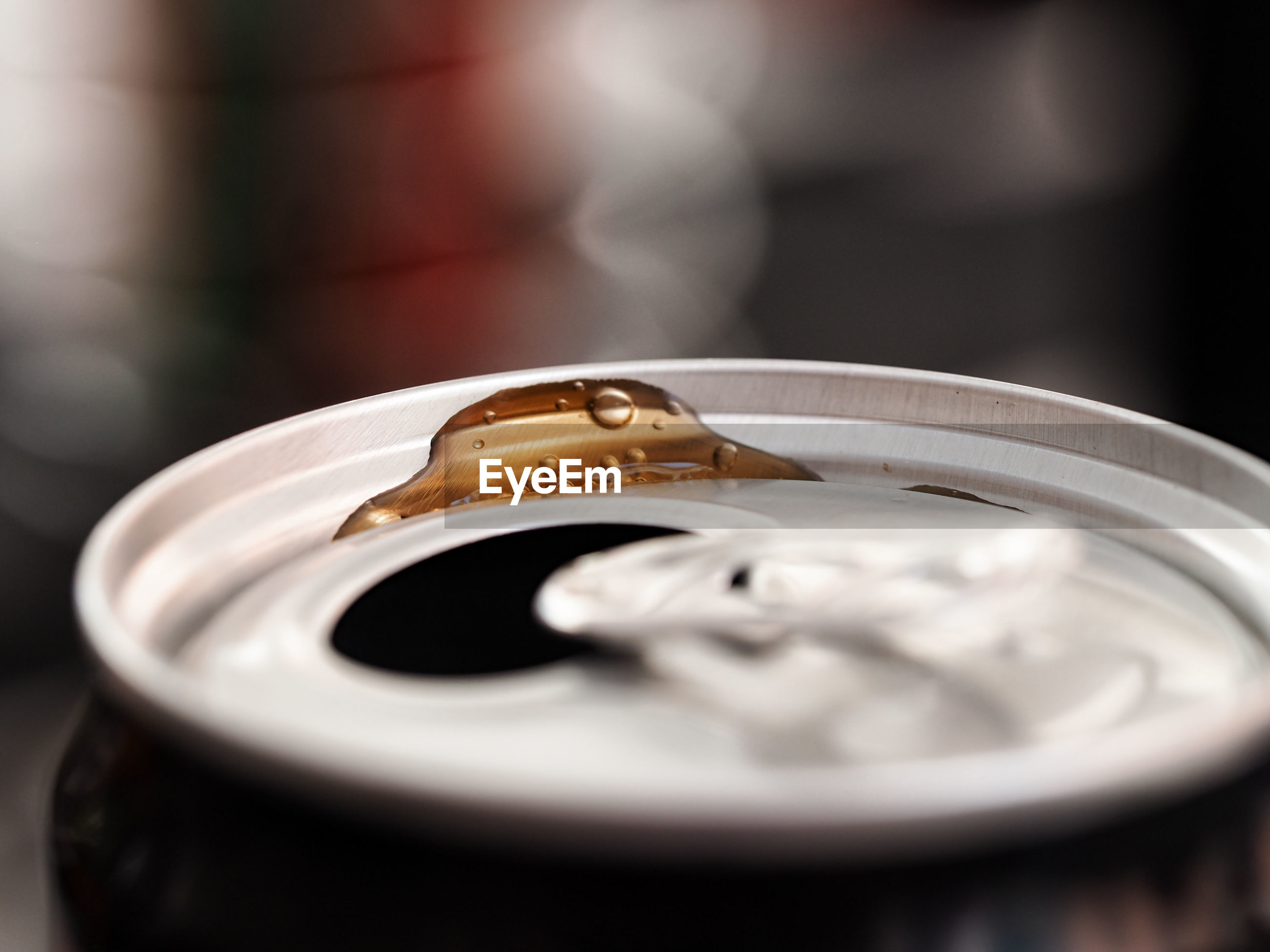 Close up of soda can