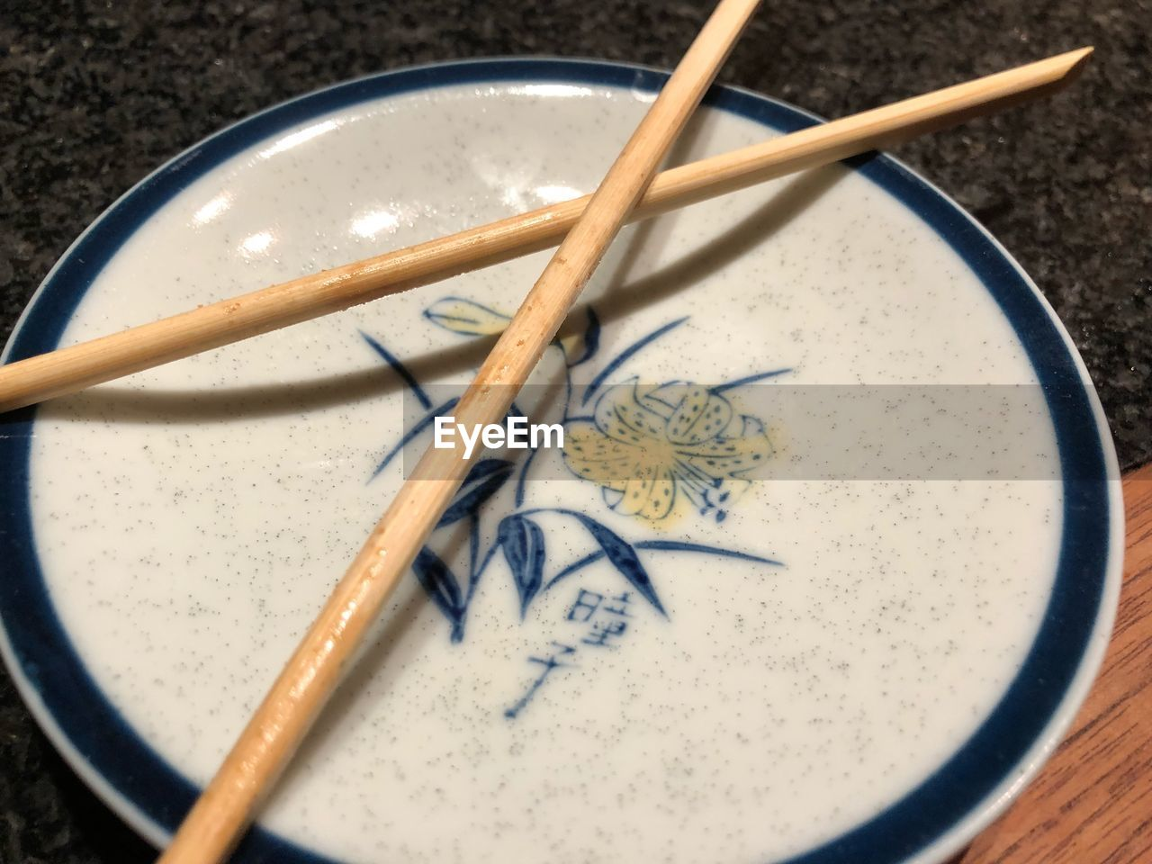 close-up, no people, high angle view, indoors, chopsticks, day