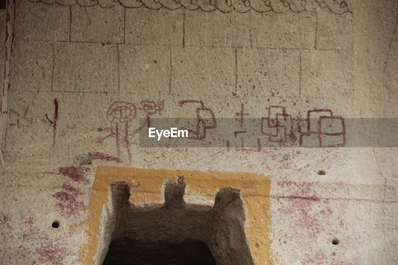 text, communication, architecture, wall - building feature, western script, built structure, day, old, history, close-up, the past, no people, indoors, ancient, wall, emotion, sign, concrete
