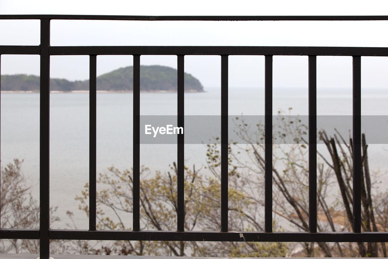 Metallic Fence Against Sea
