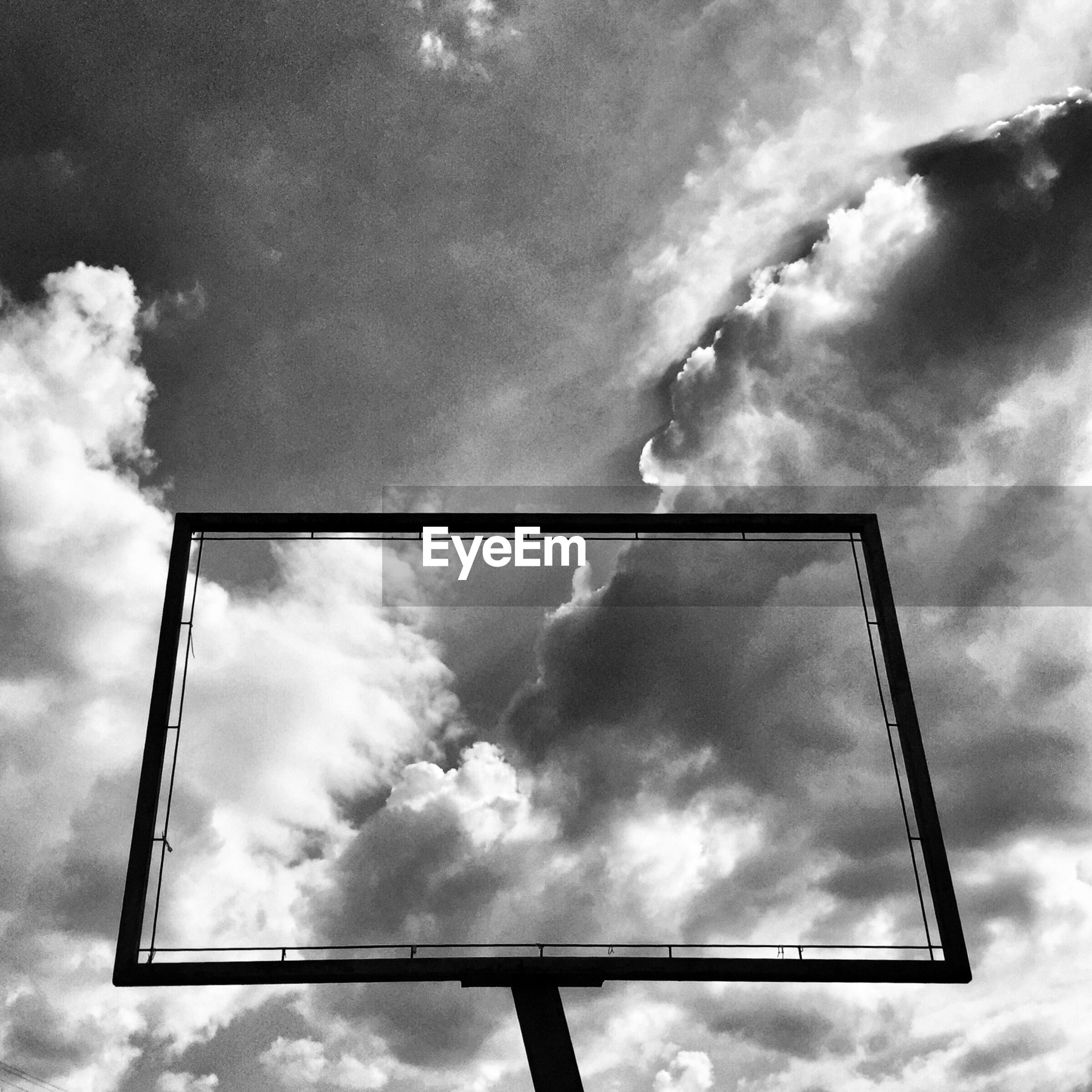 Low angle view of frame and sky